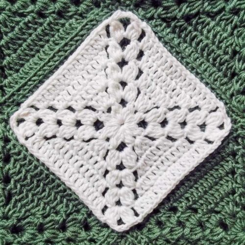 Pine cross summer top free crochet pattern white square example