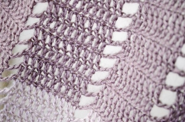 Blueberry popsicle shawl closeup
