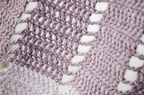 Blueberry popsicle shawl closeup