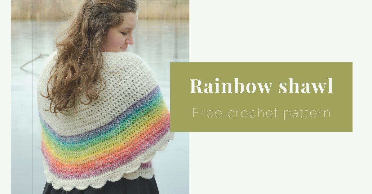 Rainbow shawl cover photo