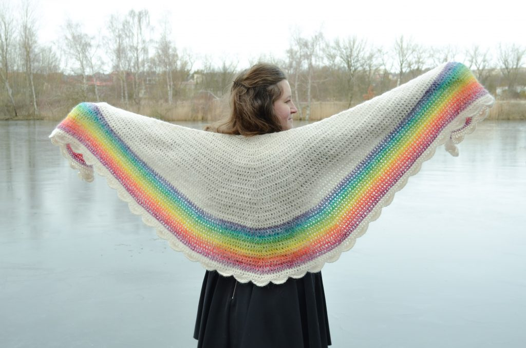 rainbow shawl 4