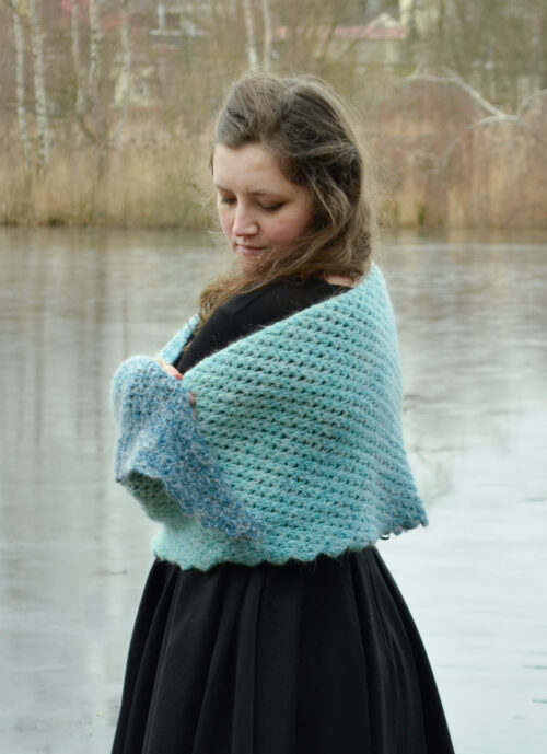 tomis wave shawl pattern 1