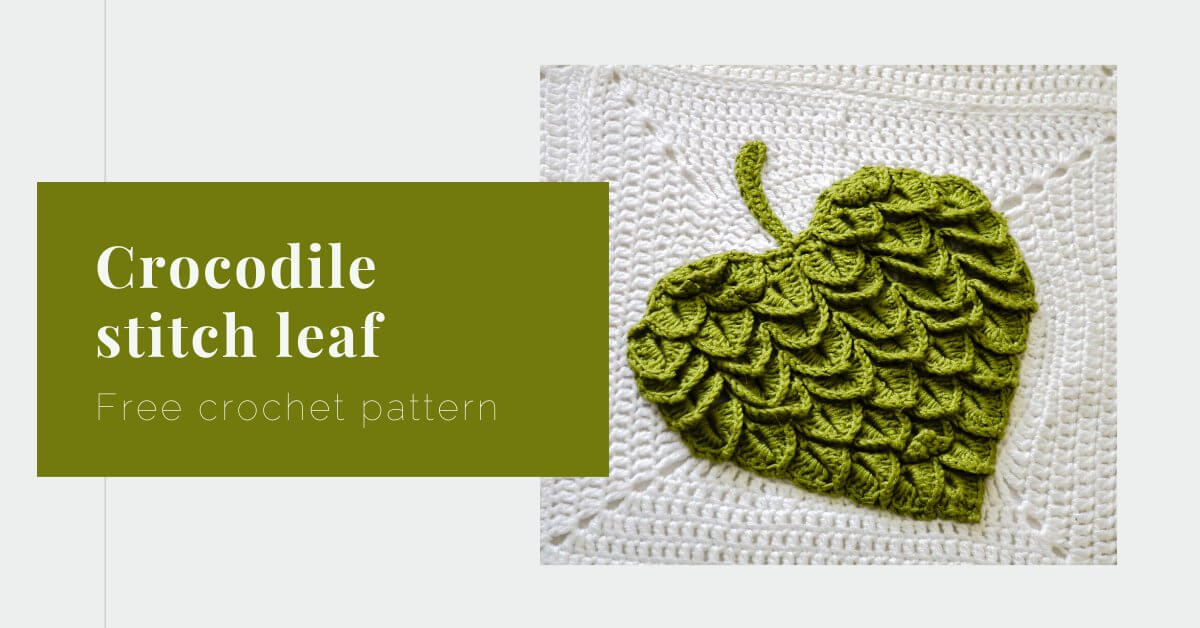 Crocodile stitch leaf or heart pattern cover photo