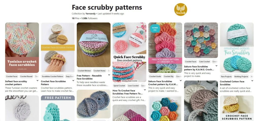 Face scrubbies crochet patterns pinterest board