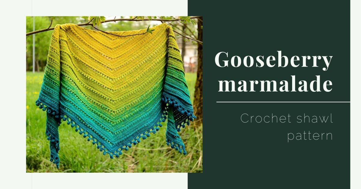 gooseberry marmalade crochet shawl pattern cover photo