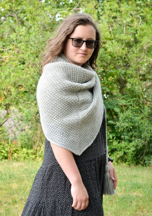 tunisian simple shawl 2