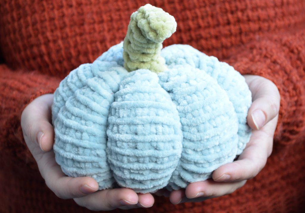Big Tunisian crochet pumpkin