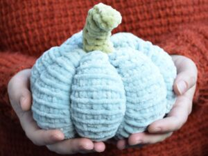 Big Tunisian crochet pumpkin