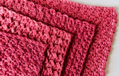 Beautiful crochet washcloth free pattern - stack of washcloths