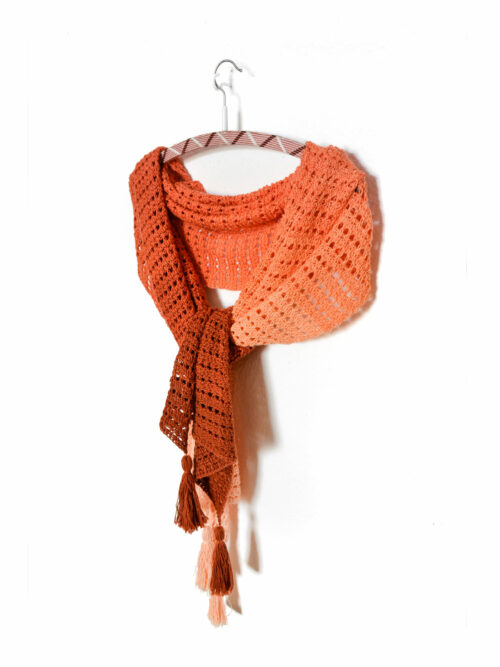 Imperial topaz wrap - easy tunisian crochet pattern