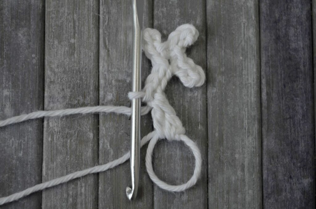 Easy snowflake crochet pattern yarnandy step 8