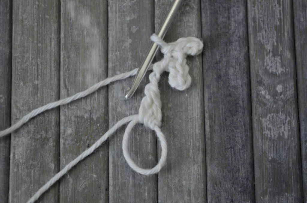 Easy snowflake crochet pattern yarnandy step 6