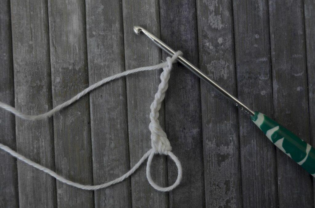 Easy snowflake crochet pattern yarnandy step 2