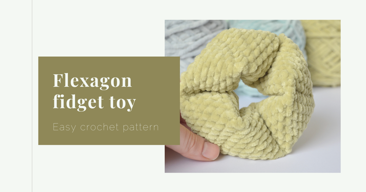 flexagon fidget toy crochet pattern yarnandy cover