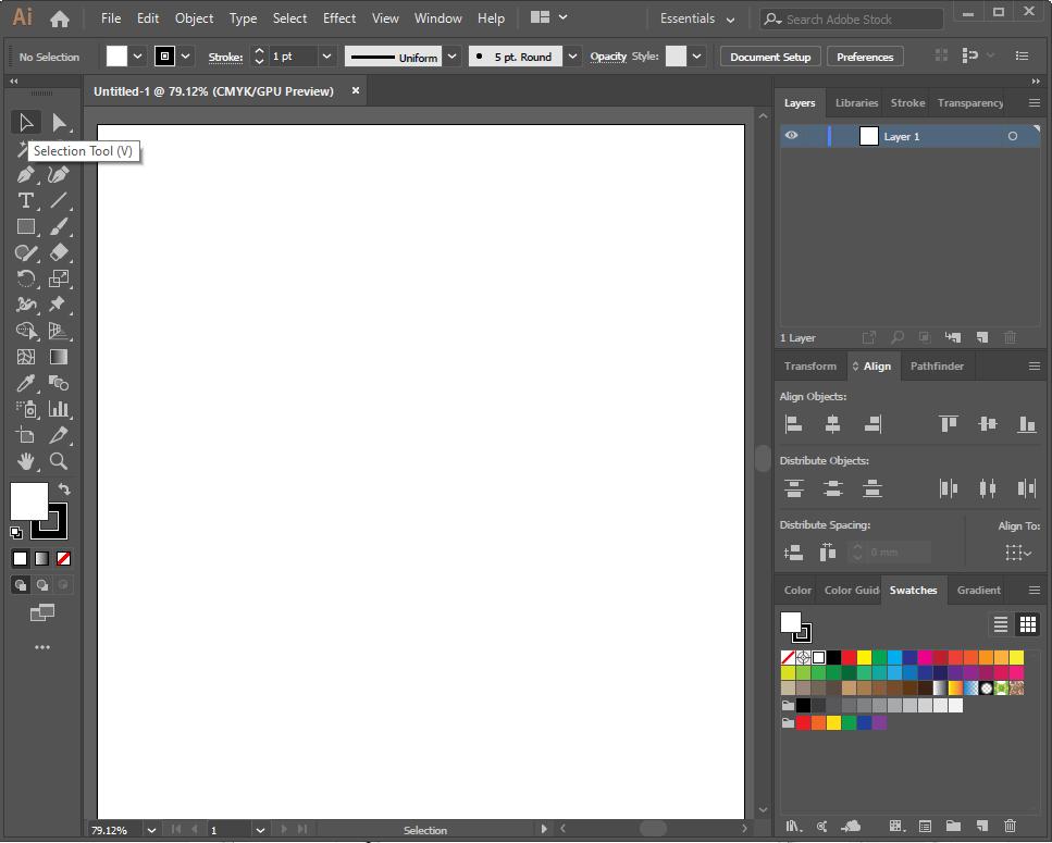 AI blank page