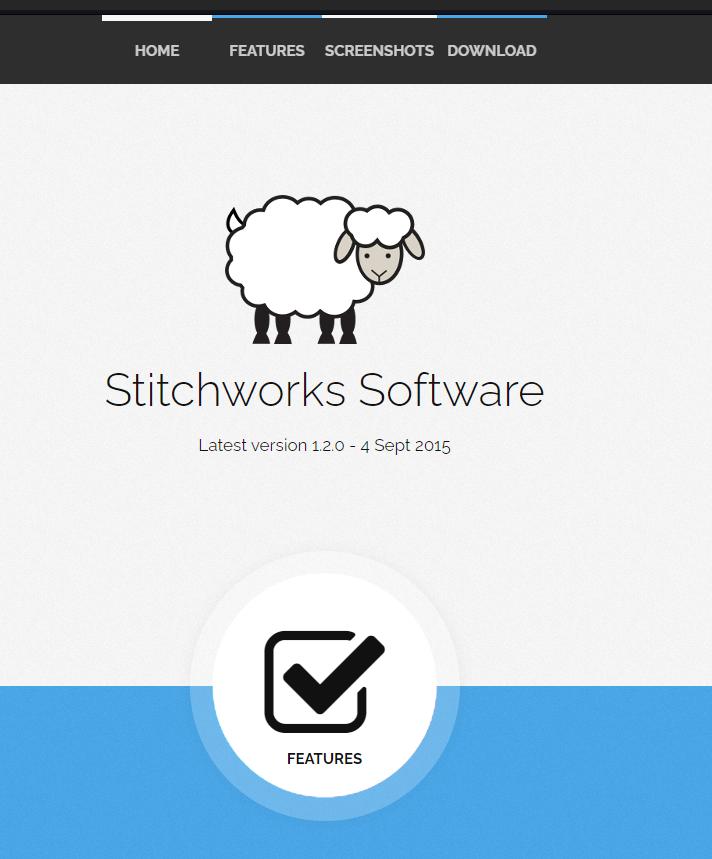 Screenshot of Crochet Charts software homepage