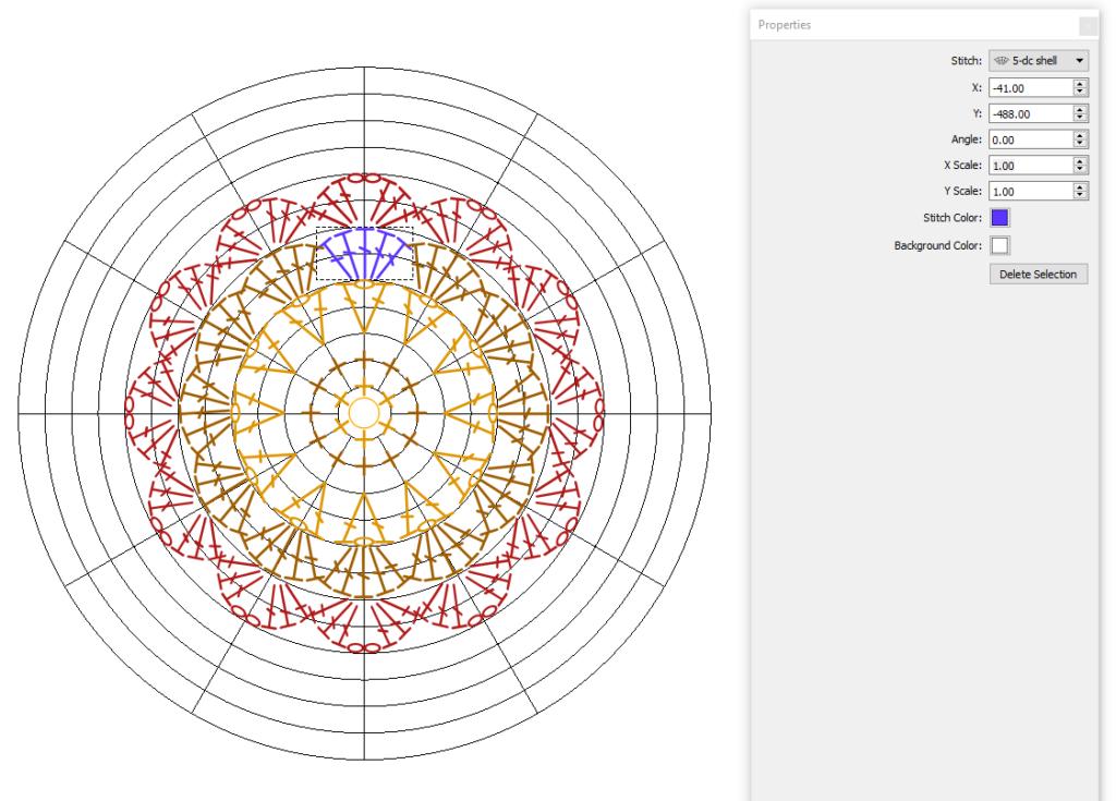 Crochet Charts stitch properties