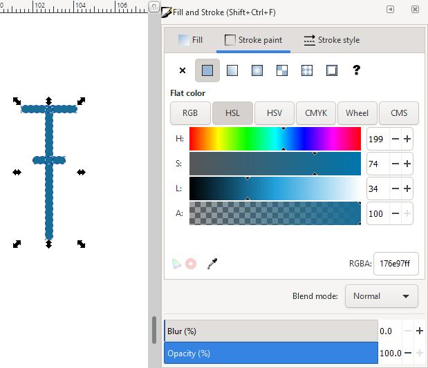 Inkscape change stroke color