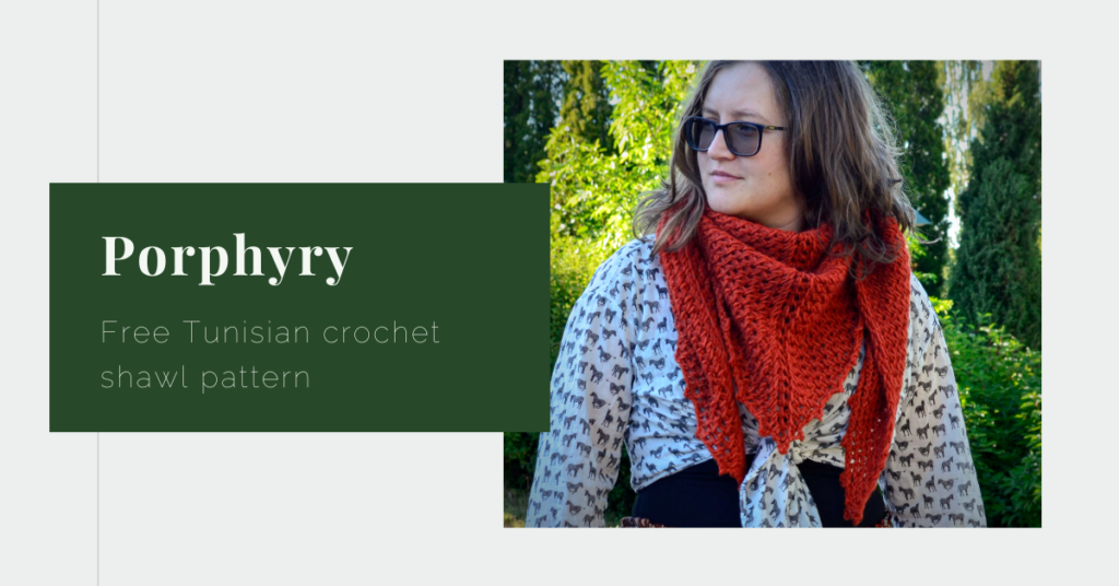 Porphyry free Tunisian crochet pattern yarnandy featured image