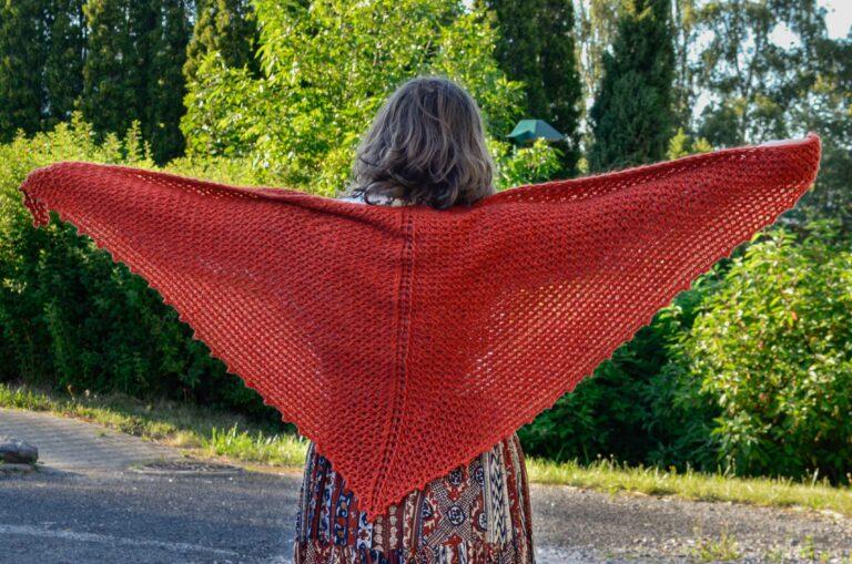 Porphyry shawl Tunisian crochet pattern yarnandy 13