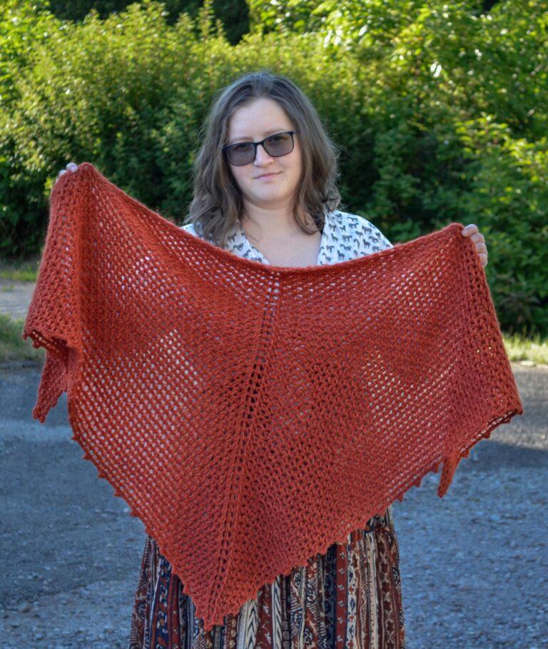 Porphyry shawl Tunisian crochet pattern yarnandy 3