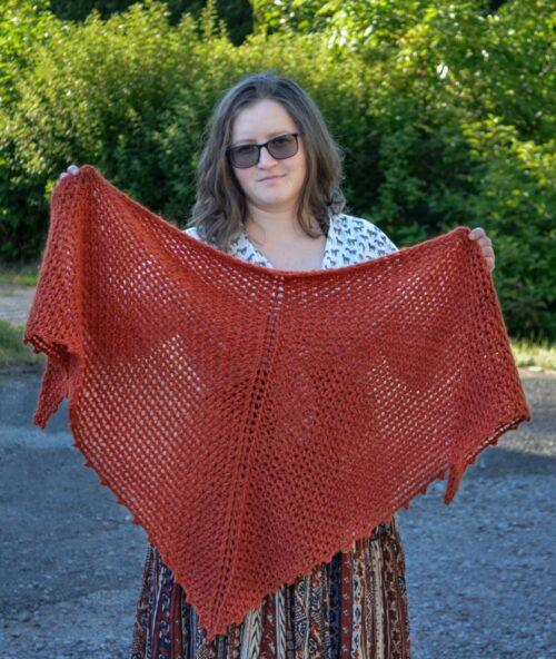 Porphyry shawl Tunisian crochet pattern yarnandy 3 scaled