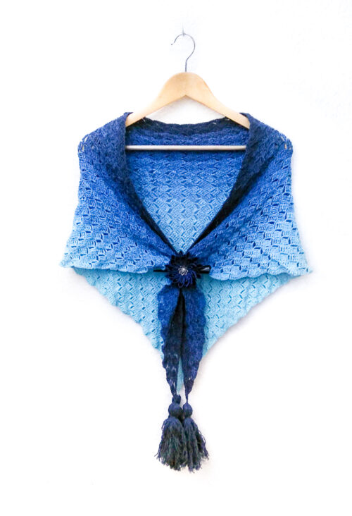 Callatis - free C2C triangle shawl crochet pattern product image