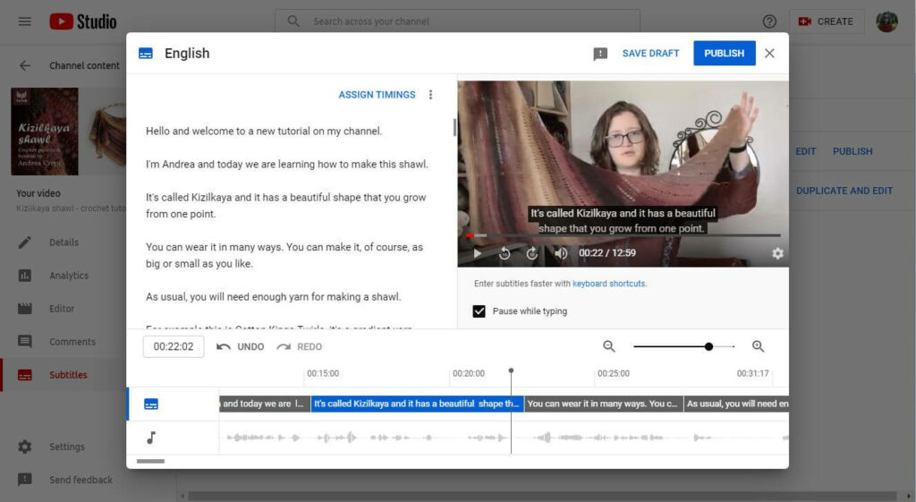 how to add youtube captions 4