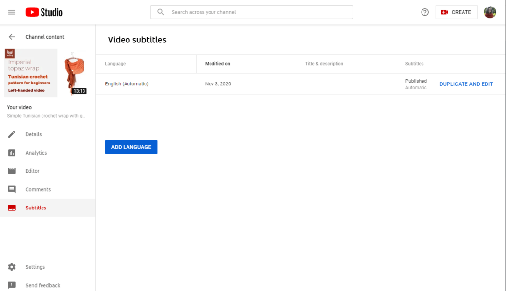 how to add youtube captions 6 select language alternative done 1