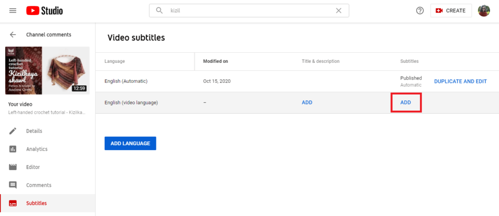 how to add youtube captions upload subtitle 1 1
