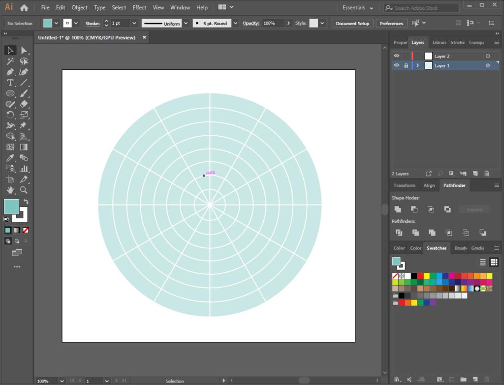 Illustrator round grid