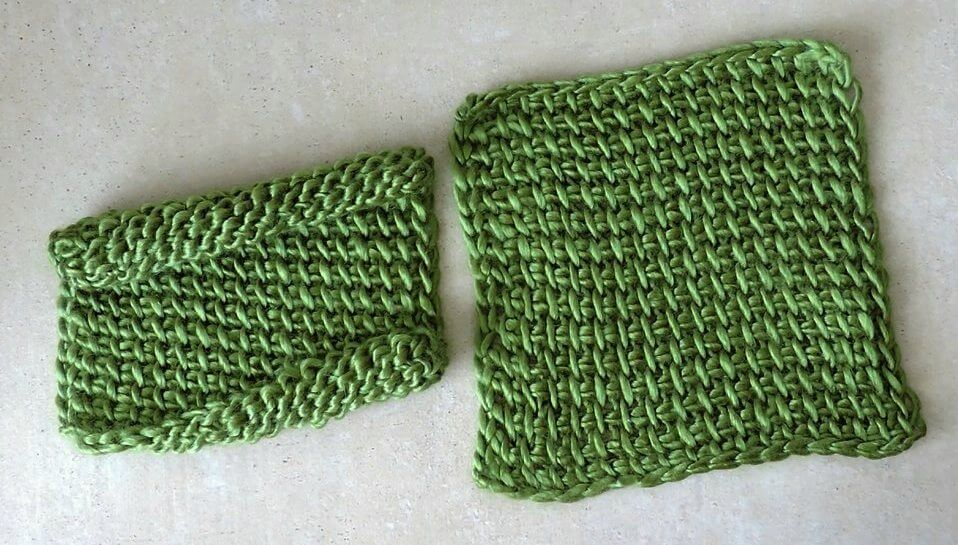 Reduce or remove tunisian crochet curling 2 3
