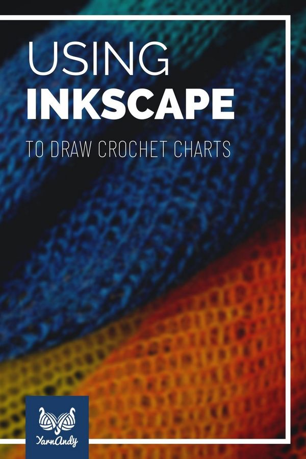 Using Inkscape to draw crochet charts pinnable