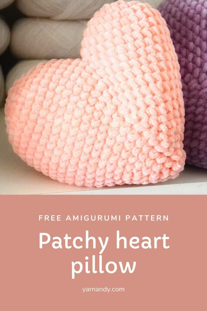 patchy heart pillow amigurumi pattern pinterest