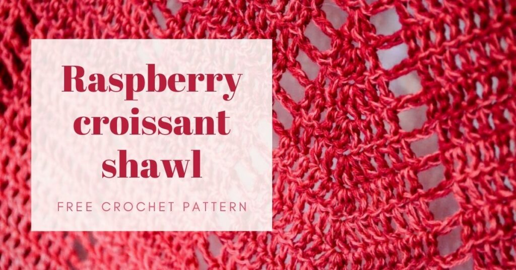 raspberry croissant shawl featured image