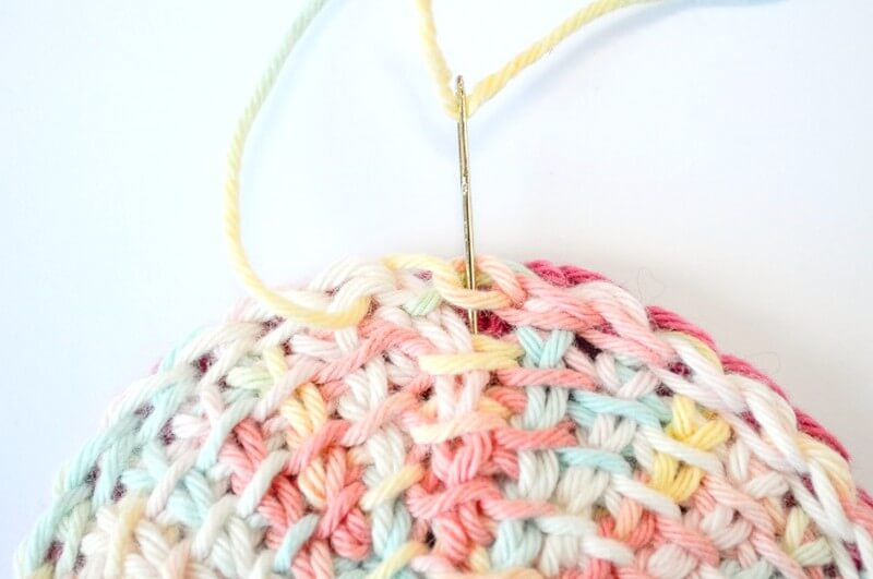 Tunisian crochet face scrubbies invisible join part 2