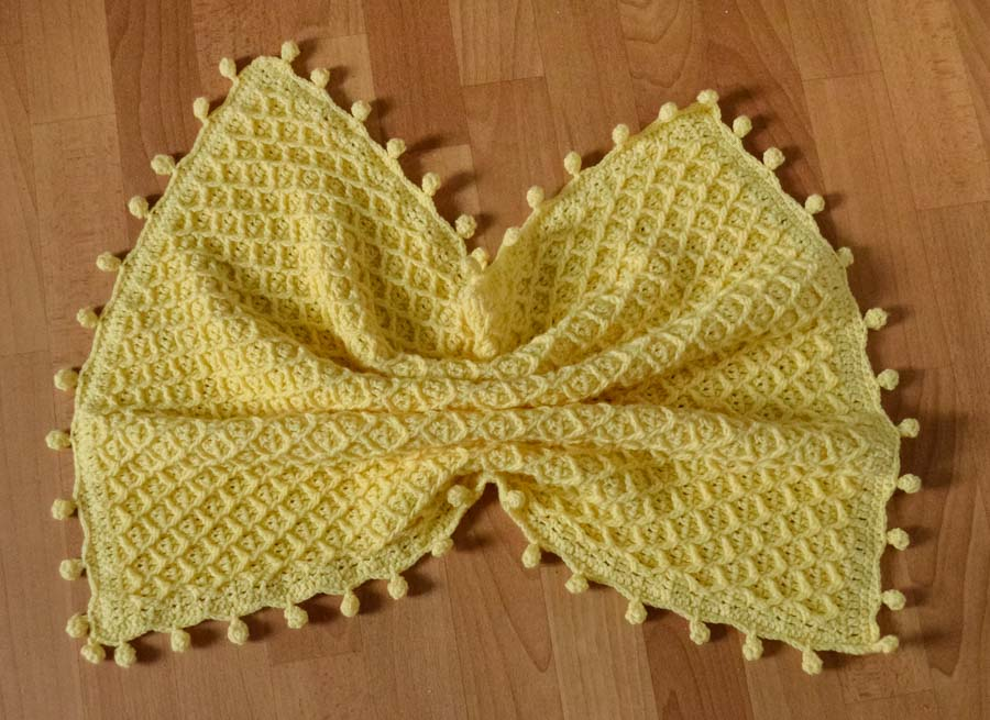 Honeycomb baby blanket crochet pattern 4
