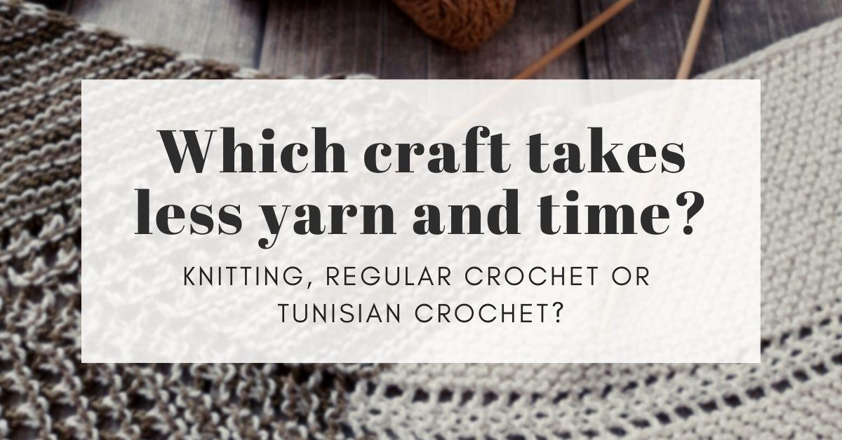 crochet vs knit vs Tunisian crochet cover