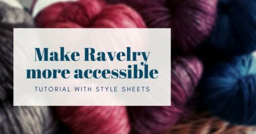 make ravelry more accessible cover