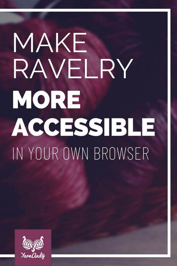 make ravelry more accessible pin s