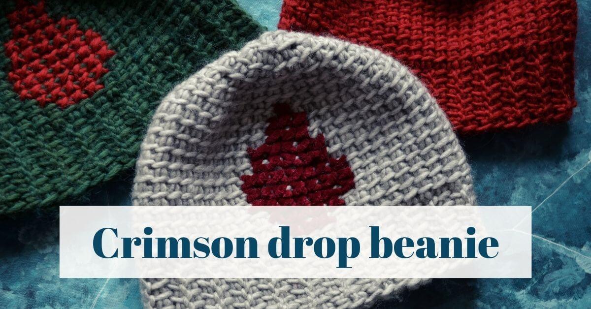 Crimson drop beanie cover