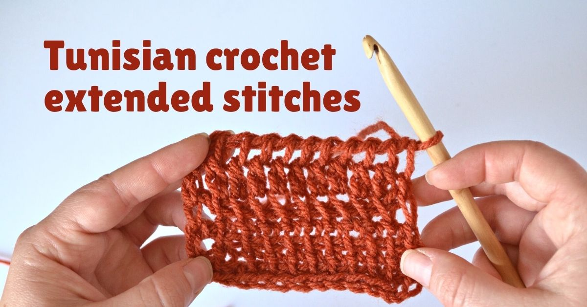 Cover photo Tunisian crochet extended stitches