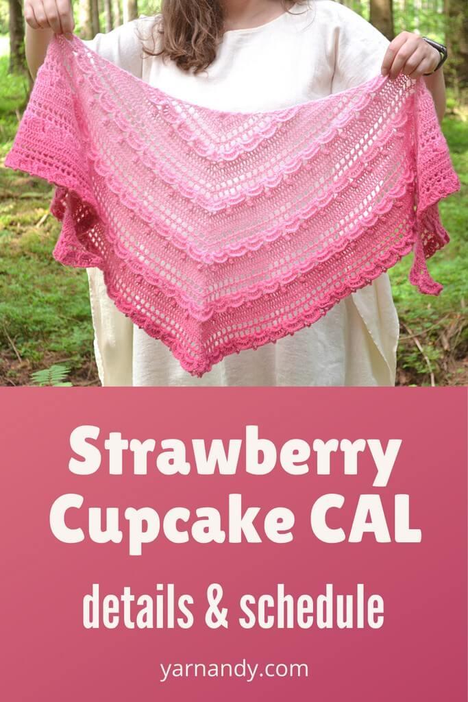 Strawberry cupcake CAL announcement Pinterest