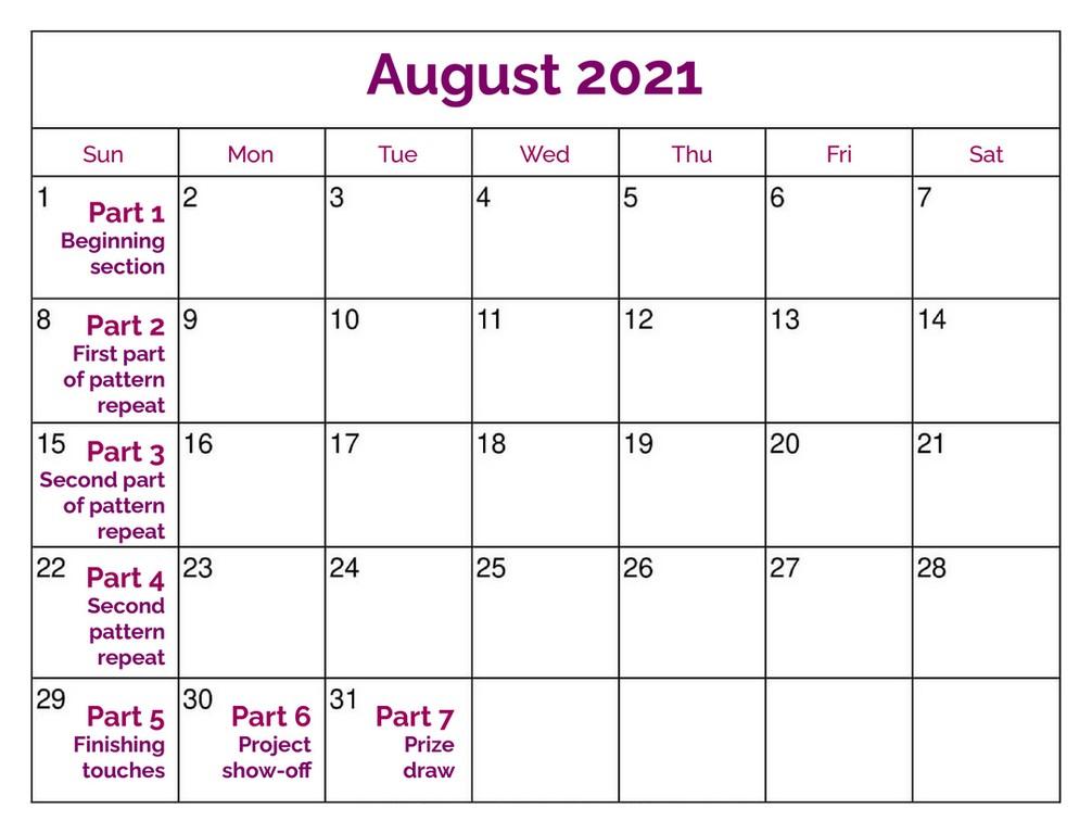 Strawberry cupcake Calendar