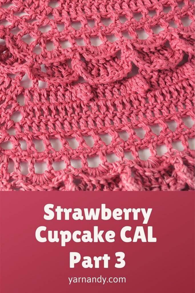 Strawberry Cupcake CAL part 3 pin