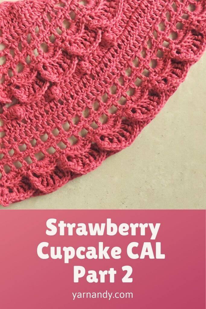 Strawberry cupcake CAL part 2 pin