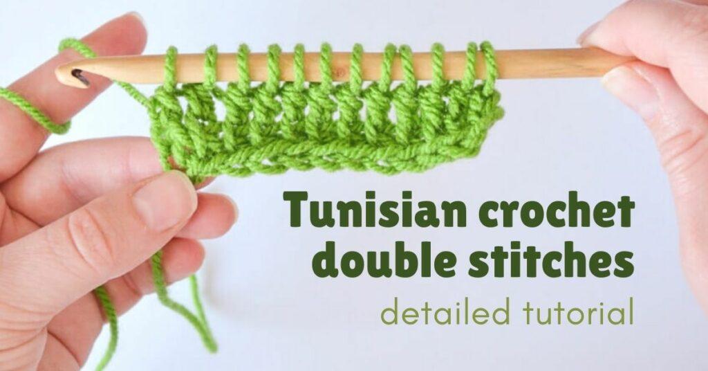 Tunisian Crochet double stitches cover photo