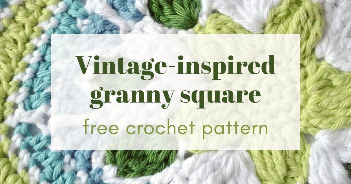 Vintage inspired granny square cover photo