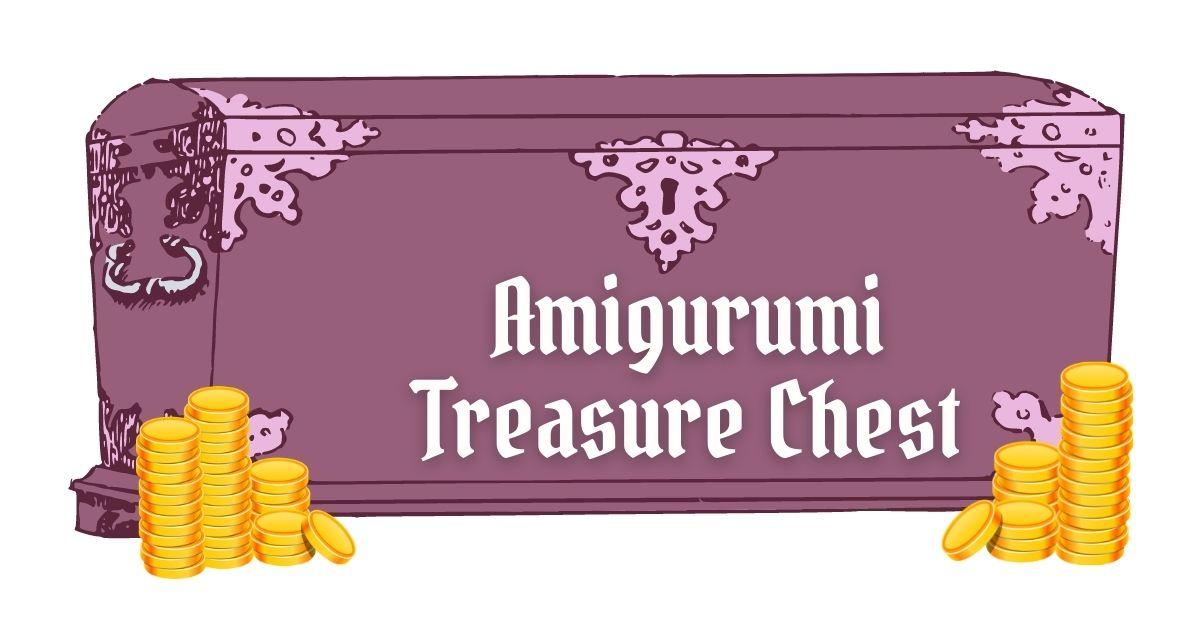 cover photo amigurumi treasure chest