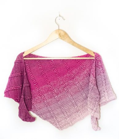 Blackberry pudding shawl